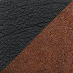 комбинированный экокожа/микрофибра (PU чёрный/MF коричневый)