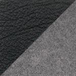 комбинированный экокожа/микрофибра (PU чёрный/MF серый)